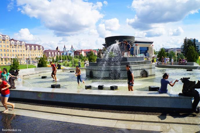 Фонтан «Казан» в парке Тысячелетия
