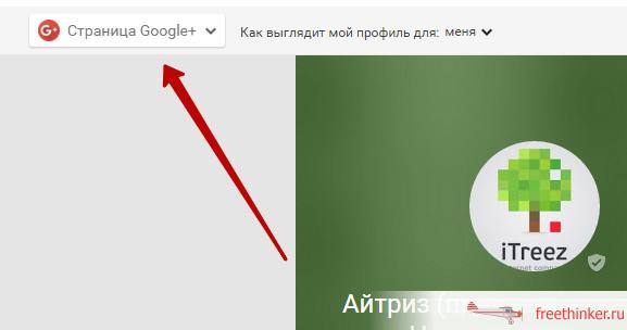 Кнопка «Страница Google+»